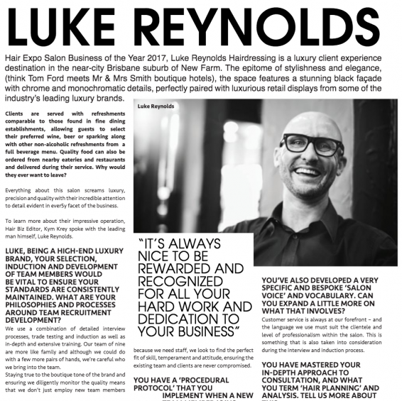 Hair Show Events and Entries | Luke Reynolds Hairdressing